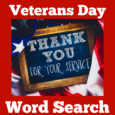 Veterans Day Activity | Veterans Day Word Search | Veterans Day Wordsearch