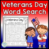 Veterans Day Word Search Activity (with answer key) Happy Veterans Day!