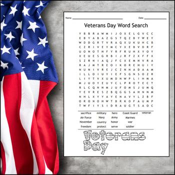 Veterans Day Word Search FREEBIE