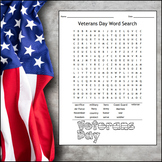 Veterans Day Word Search FREEBIE