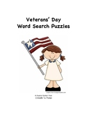 Veterans Day Word Search Puzzle Activity Packet