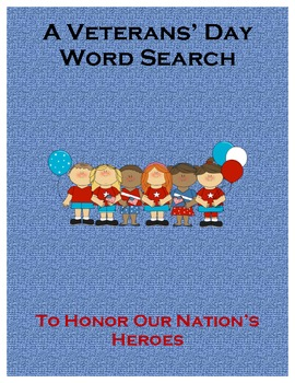 Veterans' Day Word Search To Honor Our Nation's Heroes
