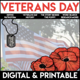 Veterans Day Word Search | Veterans Day Activities | Print and Go