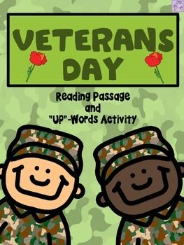 "Veterans Day ""Up"" Words Activity and Reading Passage"
