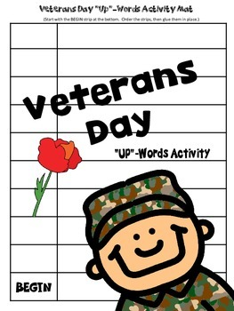 """Veterans Day """"Up"""" Words Activity and Reading Passage"""