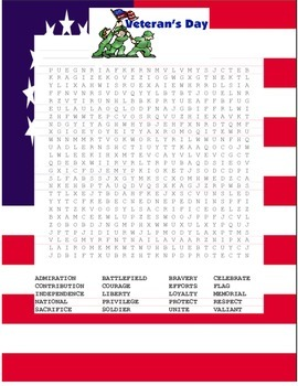 Veterans Day Wordsearch