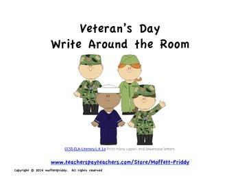 Veteran's Day Write Around the Room