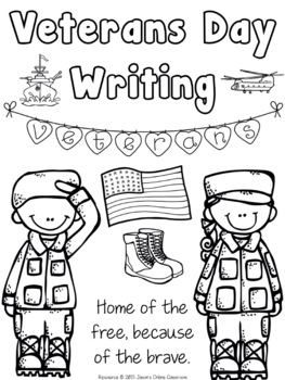Veterans Day Writing Prompts {Narrative Writing, Informative & Opinion Writing}