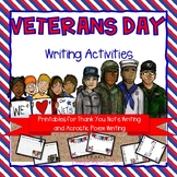 Veterans Day Writing Activities--Writing Prompt, Thank You