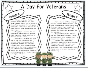 Veterans Day Writing Activity