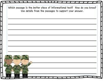 Veterans Day Writing Activity