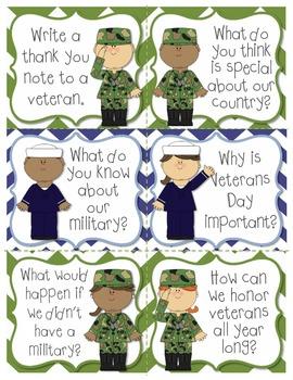 Veterans Day Writing Center Bundle