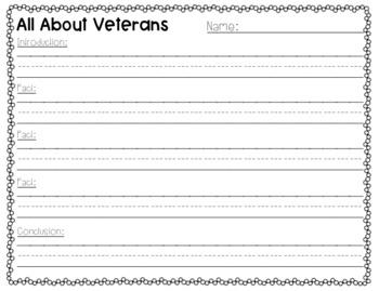 Veterans Day Writing Craft