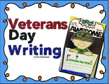 Veterans Day Writing Craftivity for Kindergarten