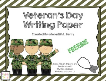 Veteran's Day Writing Pages