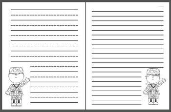 Veteran's Day Writing Paper