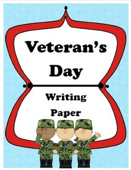 Veteran's Day Writing Paper