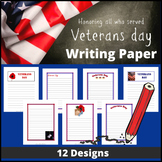 Veterans Day Writing Paper (12 Designs)