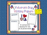 Veterans Day Writing Paper Set (FREE)