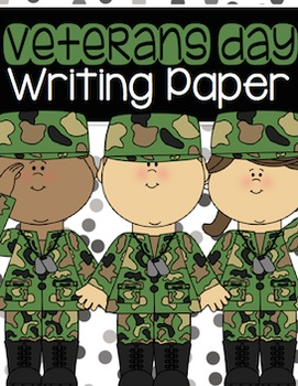 Veterans Day Writing Paper Pack {Freebie}