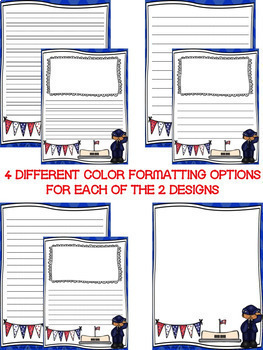 Veterans Day Writing Paper--Veterans Day Writing Stationary--DIFFERENTIATED