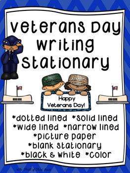 Veterans Day Writing Paper--Veterans Day Writing Stationar