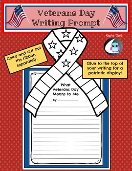 Veterans Day Writing Prompt