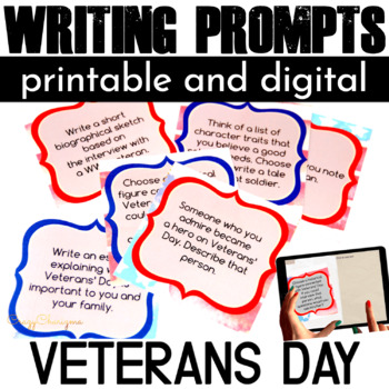 Veterans Day Writing Prompts Veterans Day Activities