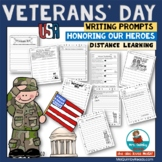 Veterans' Day   Writing Prompts   Honor Our Heroes