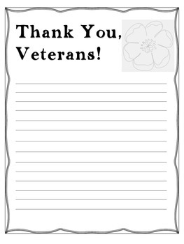 Veterans Day Writing and Craftivity