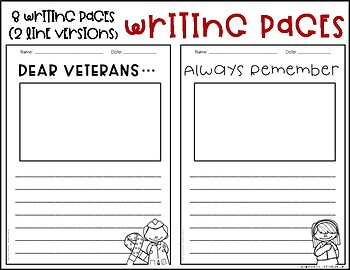 Veterans Day Writing and Printables