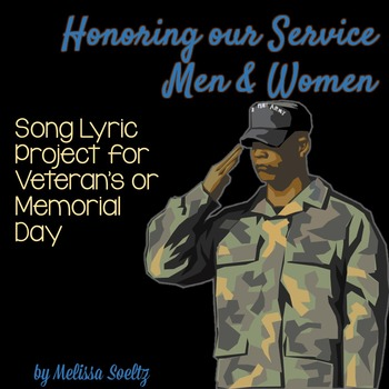 Veteran's Day and Memorial Day - Song Lyrics Close Reading Project