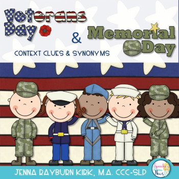 Veterans Day and Memorial Day Vocabulary Activities: Conte