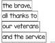 Veterans Day build a poem pocket chart center