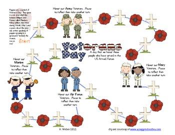 Veteran's Day themed game board