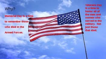 Veterans Day vs. Memorial Day