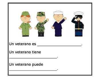 Veterans Day writing spanish