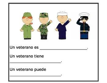 Veterans Day writing spanish