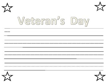 Veteran's Day writing topper