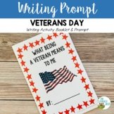 Veterans Day Booklet and Writing Prompt