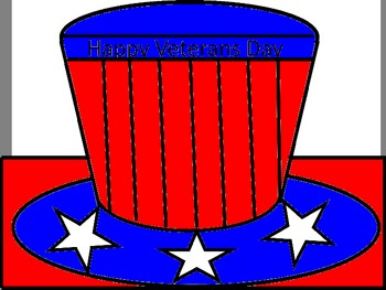 Veterans Day/Memorial Day Hat