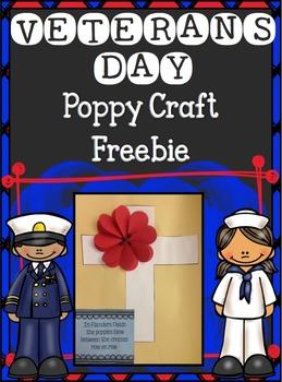 Veterans Day~ Poppy Craft {Freebie}