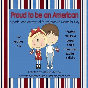 Veterans & Memorial Day Pack ~ Teaching Posters ~ Activities ~ Worksheets