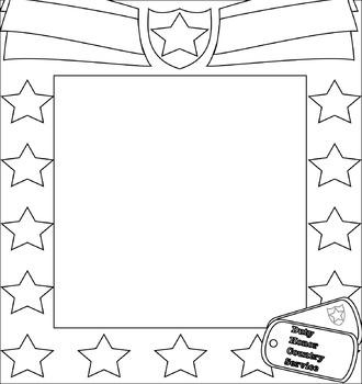 Veterans-Memorial Day Patriotic Frame Clip Art Bundle {Messare Clips and Design}