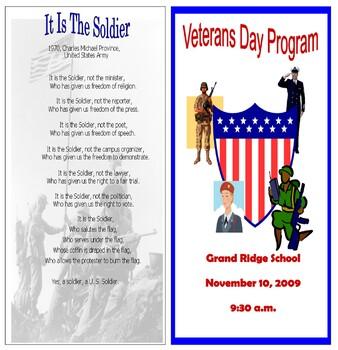 Veterans Program #5 (EDITABLE/TEMPLATE)