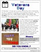 Veterans Day Reading Passage and Flipbook