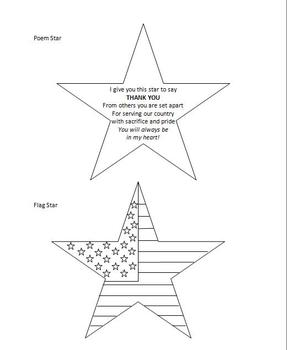 Veteran's Thank You Star