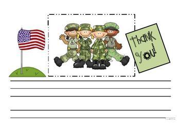 Veteran's Thank You Writing Template