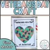 Veterans are the Heart of America {Veterans Day Craft and