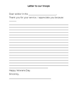 Veterans day letter to the troops